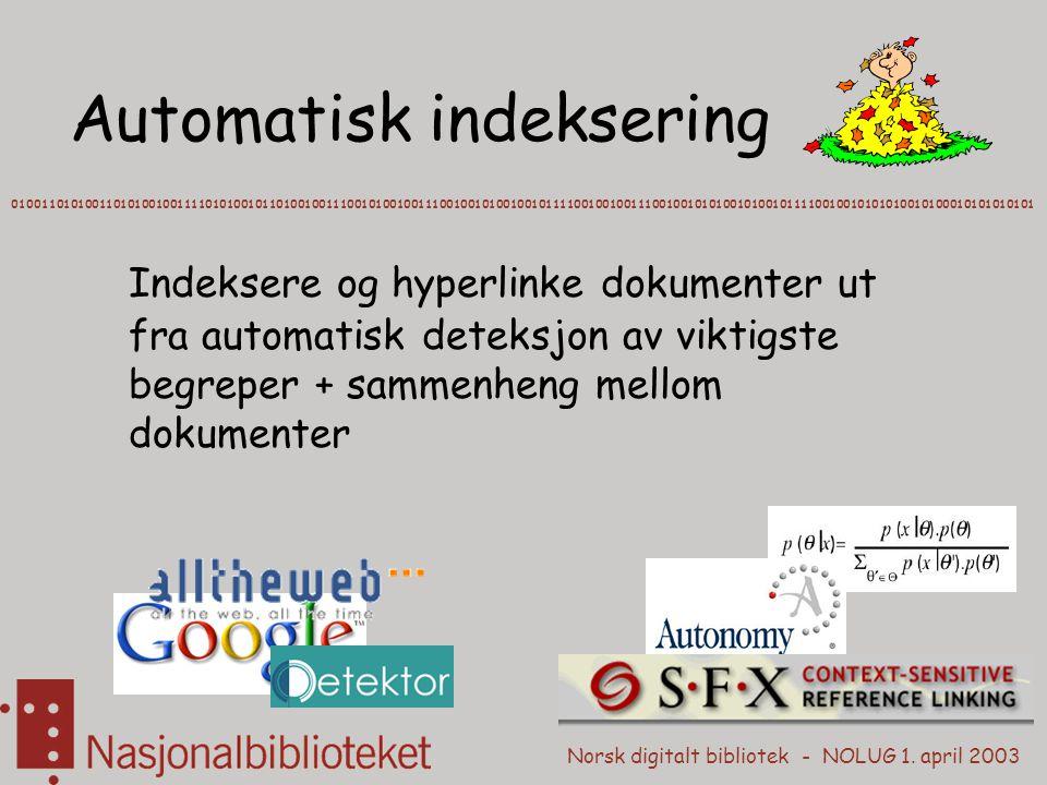 Automatisk indeksering