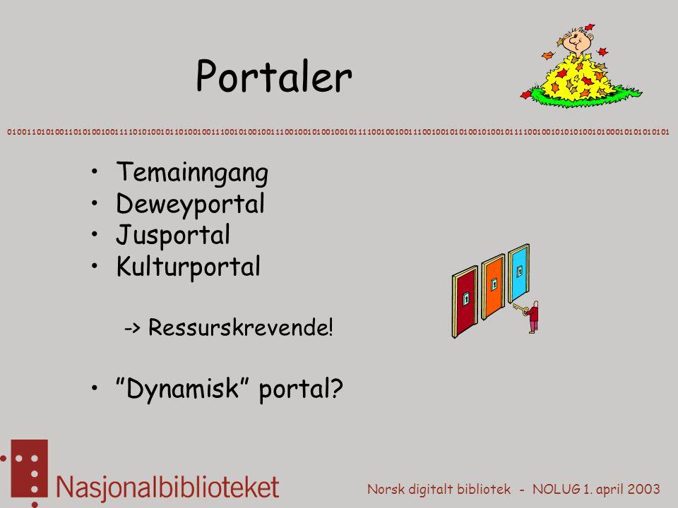 Portaler Temainngang Deweyportal Jusportal Kulturportal