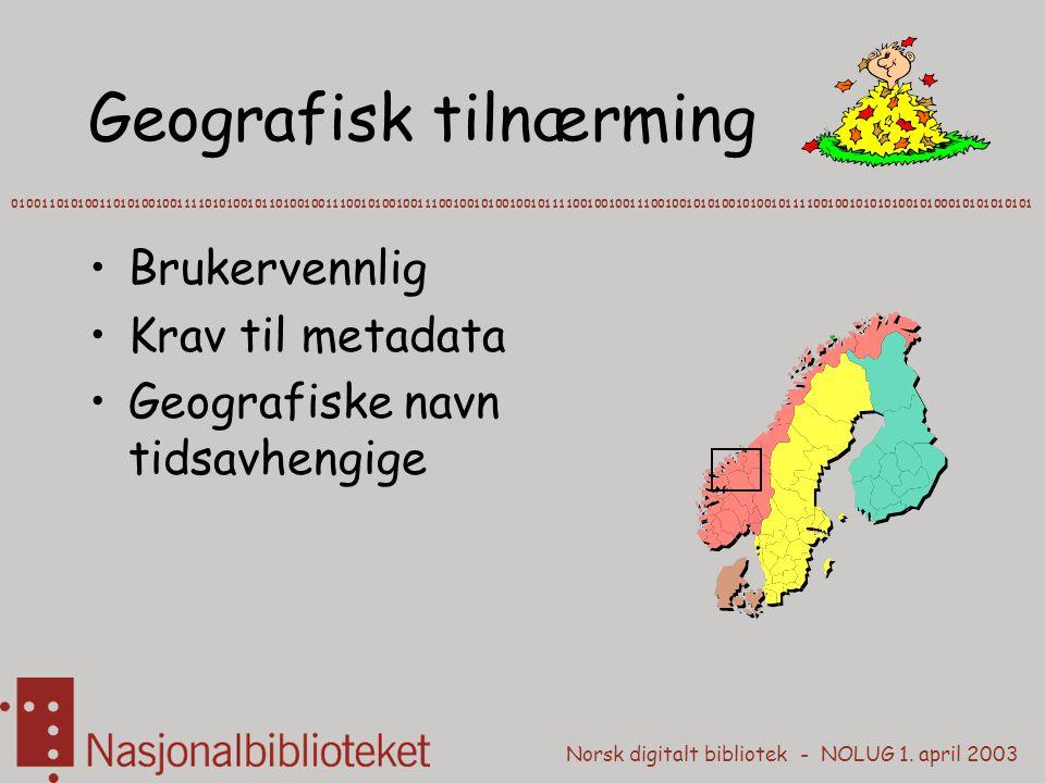 Geografisk tilnærming