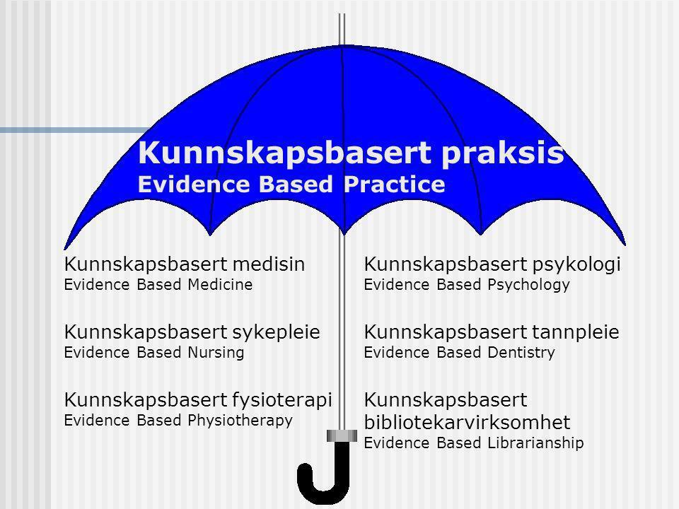 Kunnskapsbasert praksis Evidence Based Practice