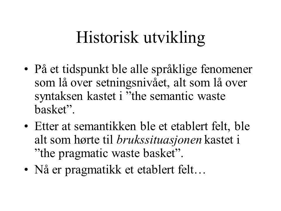 Historisk utvikling