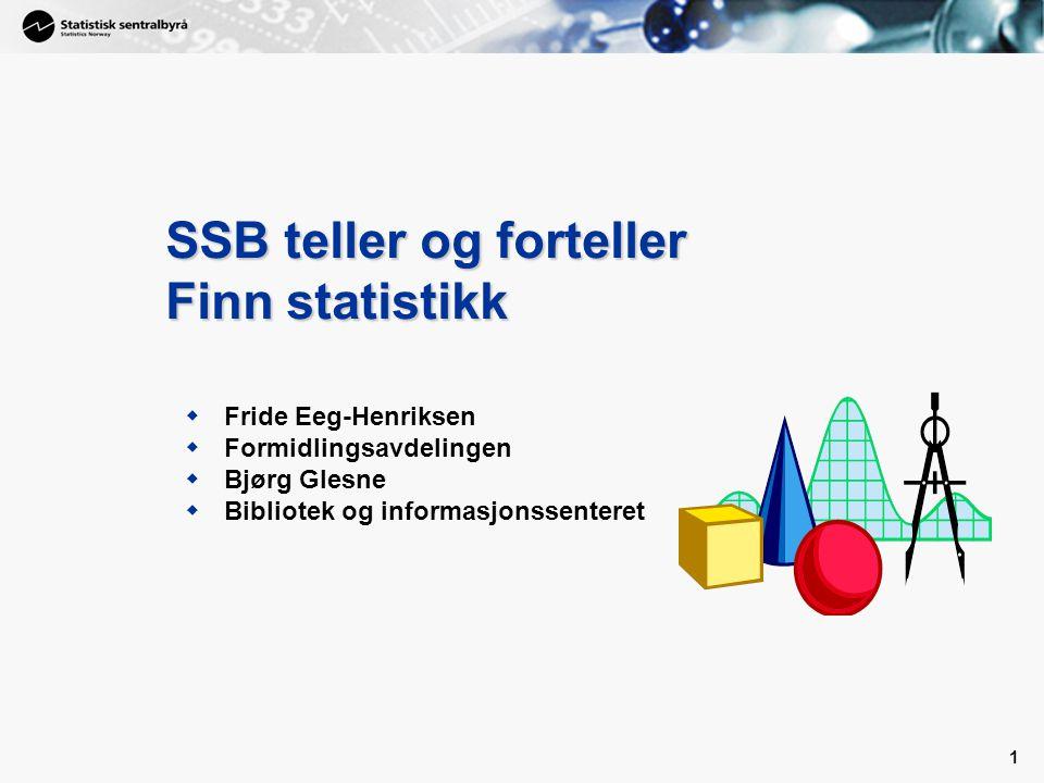 SSB teller og forteller Finn statistikk