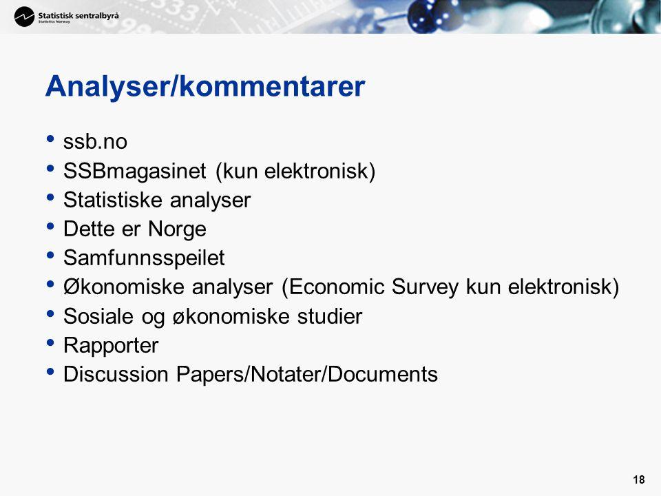 Analyser/kommentarer