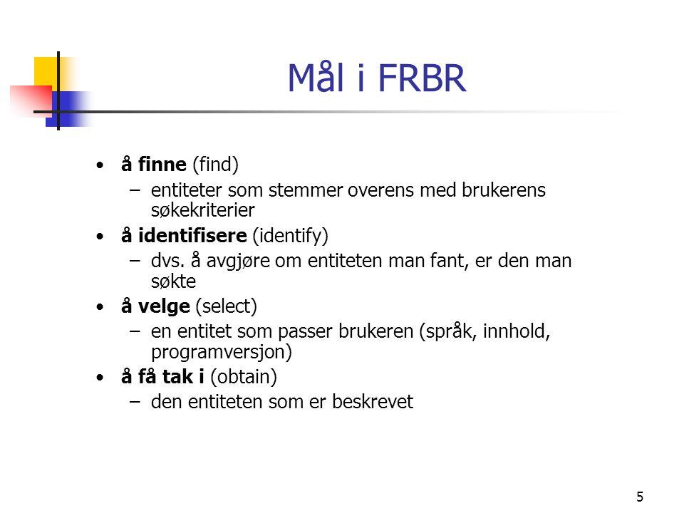 Mål i FRBR å finne (find)