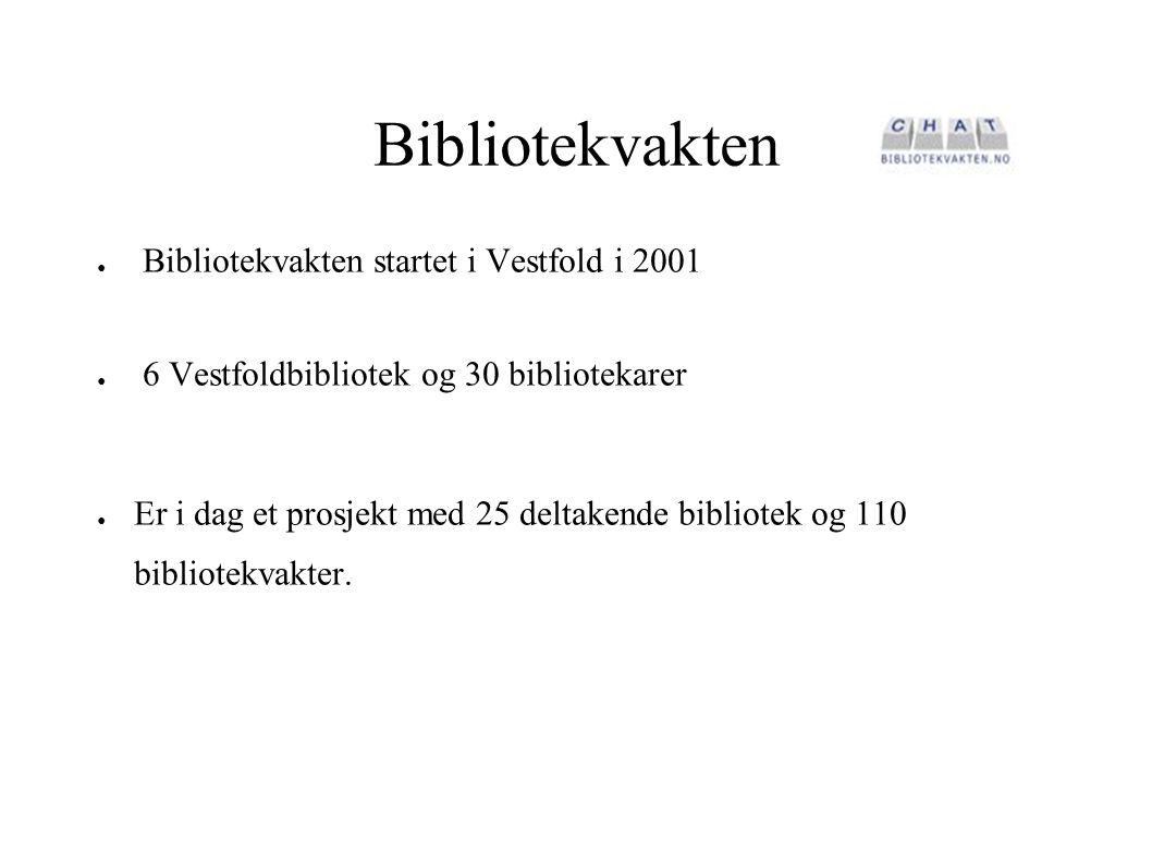 Bibliotekvakten Bibliotekvakten startet i Vestfold i 2001