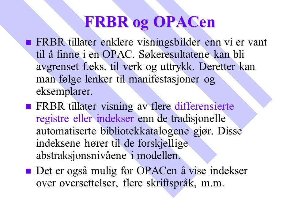 FRBR og OPACen