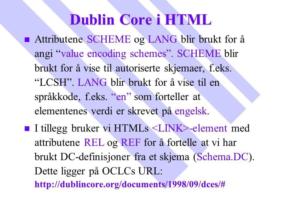 Dublin Core i HTML
