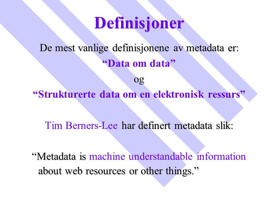 Strukturerte data om en elektronisk ressurs