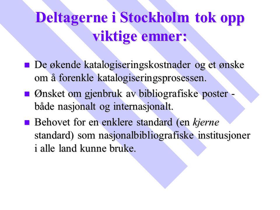 Deltagerne i Stockholm tok opp viktige emner: