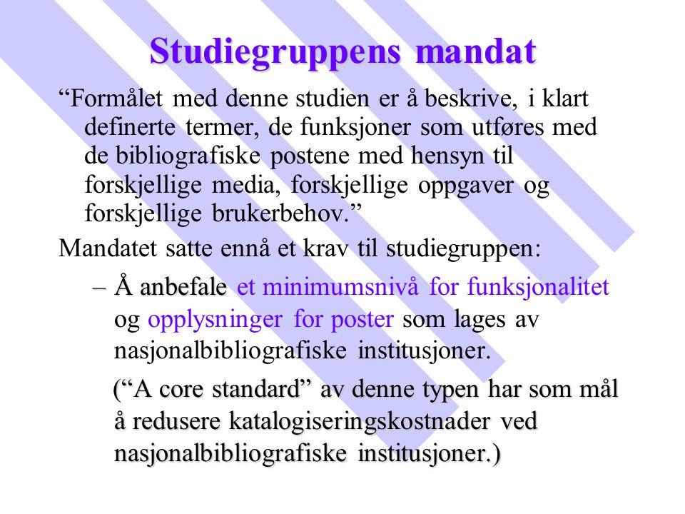 Studiegruppens mandat