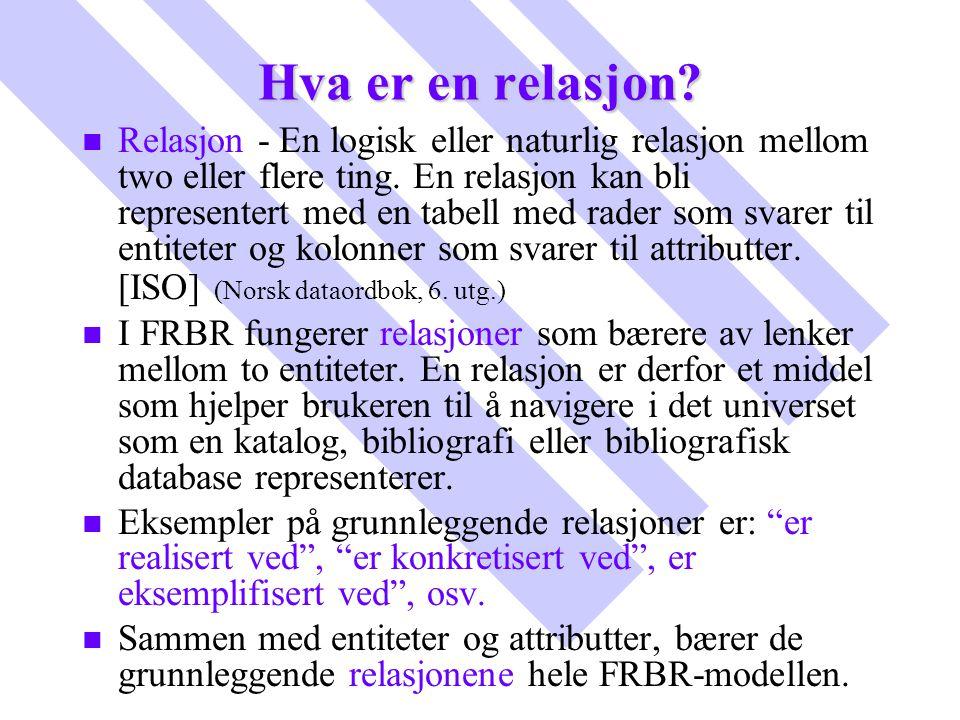 Hva er en relasjon