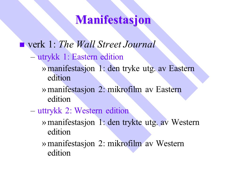 Manifestasjon verk 1: The Wall Street Journal