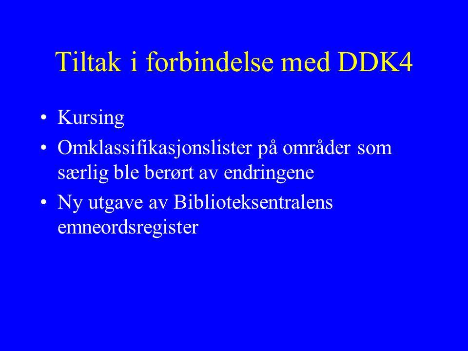 Tiltak i forbindelse med DDK4