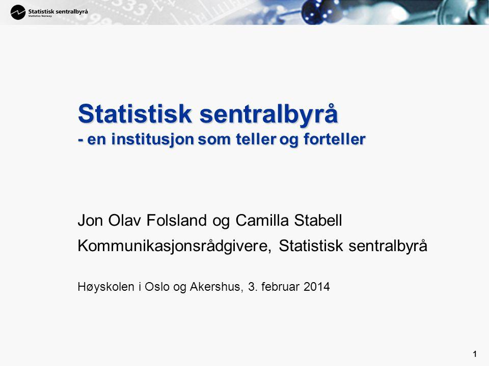 Statistisk sentralbyrå - en institusjon som teller og forteller