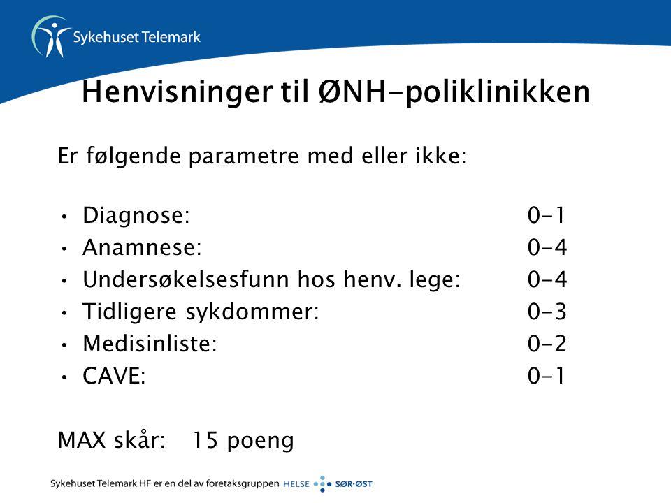 Henvisninger til ØNH-poliklinikken