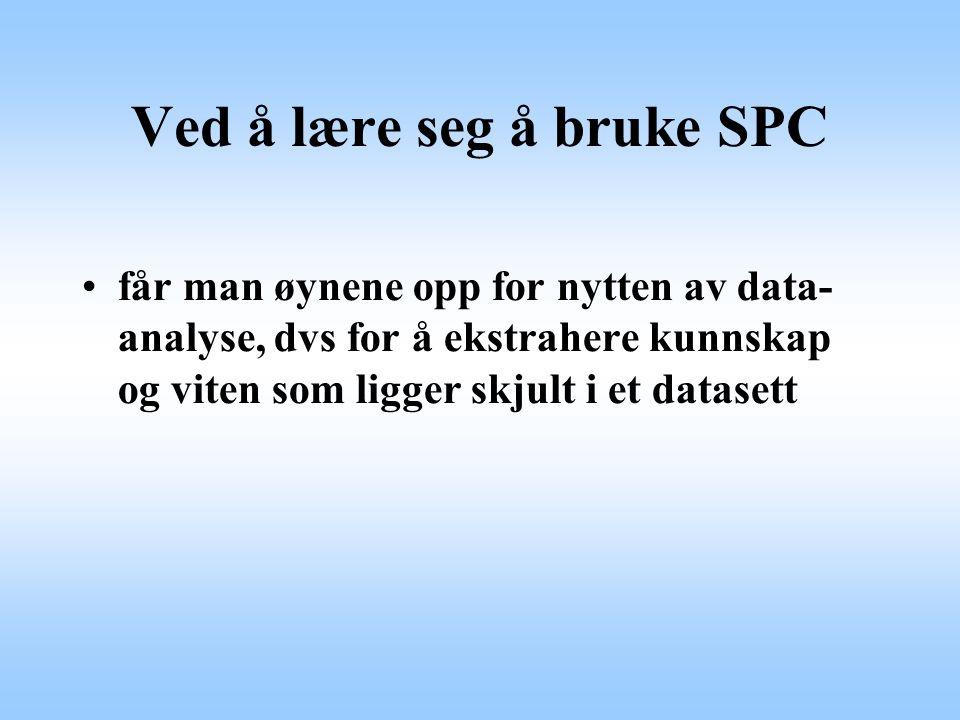 Ved å lære seg å bruke SPC
