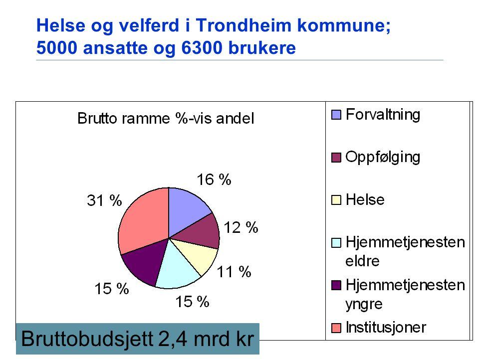Helse og velferd i Trondheim kommune; 5000 ansatte og 6300 brukere