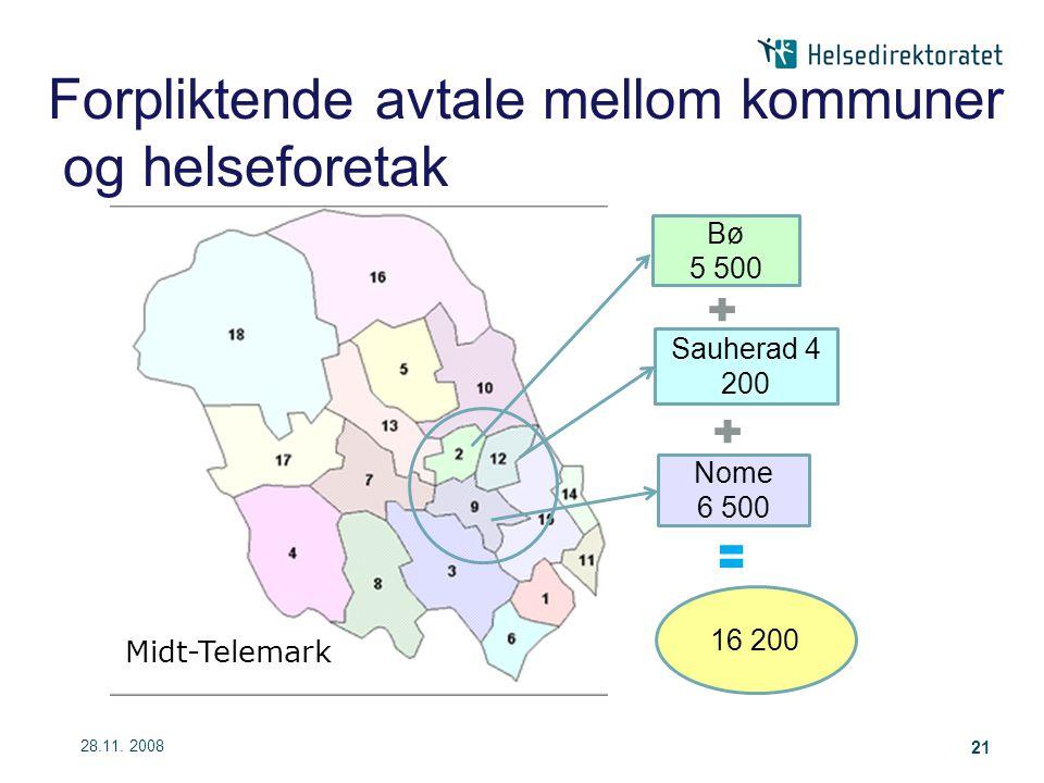 Forpliktende avtale mellom kommuner og helseforetak
