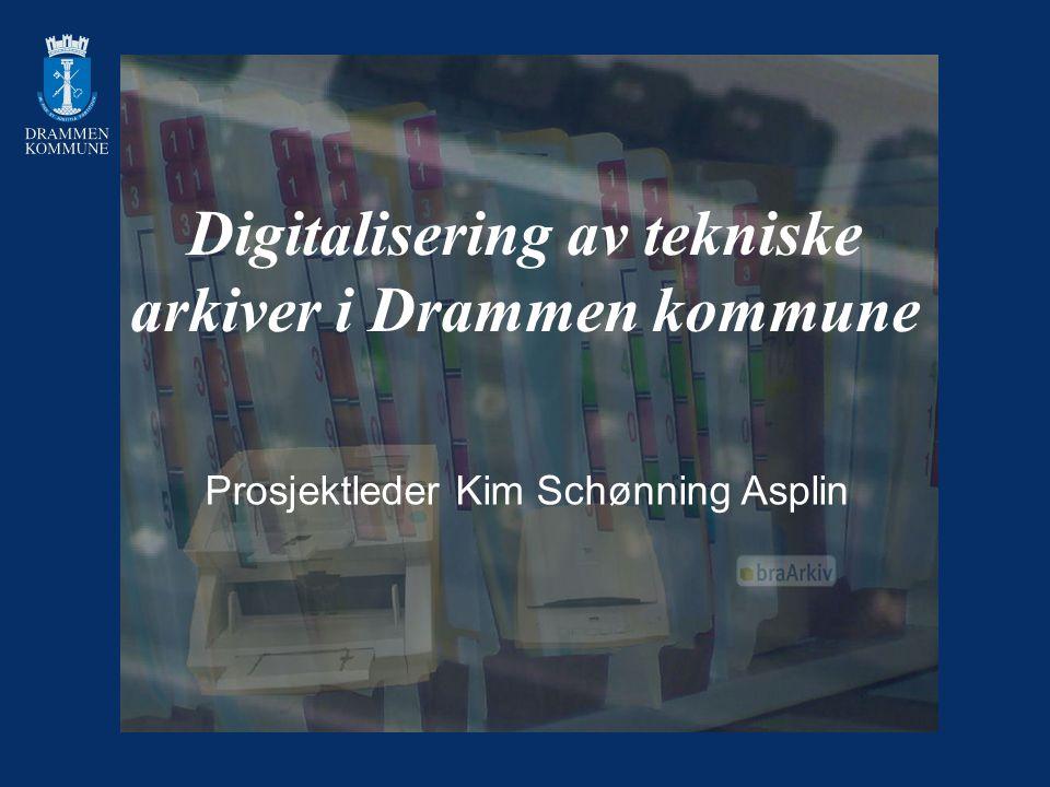 Digitalisering av tekniske arkiver i Drammen kommune