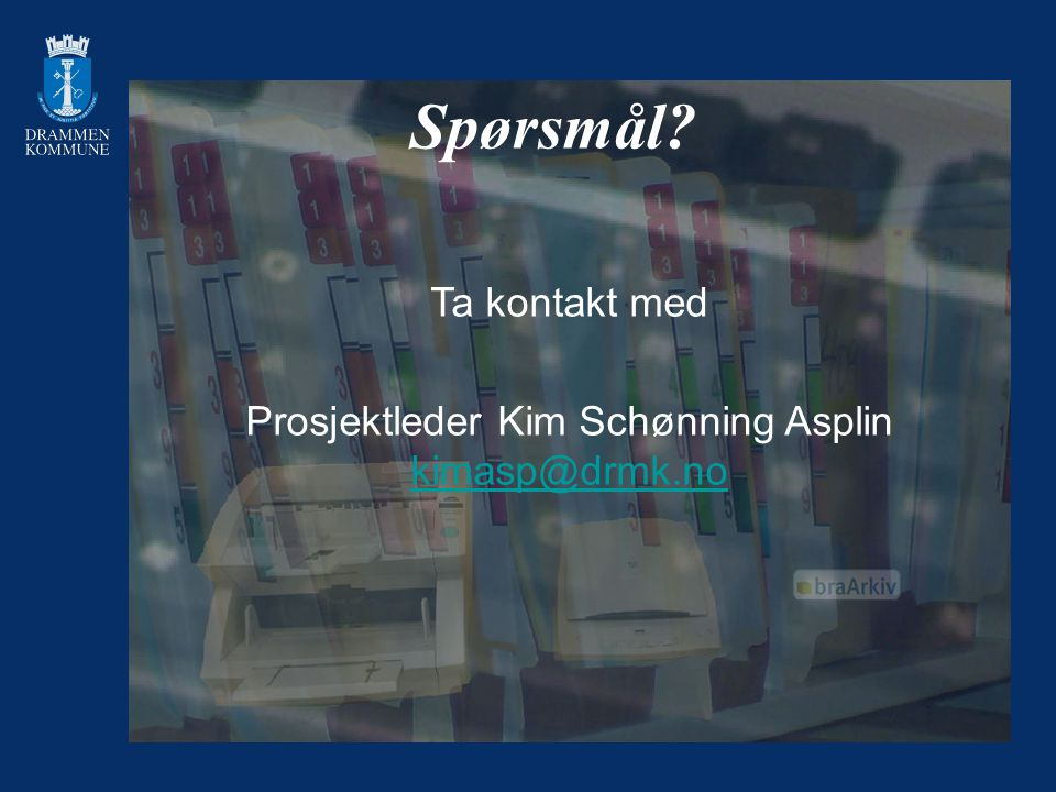 Prosjektleder Kim Schønning Asplin kimasp@drmk.no