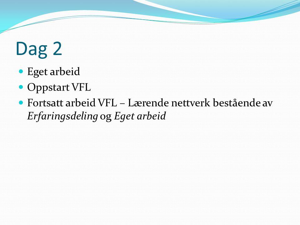 Dag 2 Eget arbeid Oppstart VFL