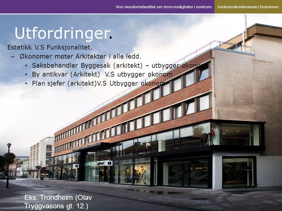 Utfordringer. Eks. Trondheim (Olav Tryggvasons gt. 12.)