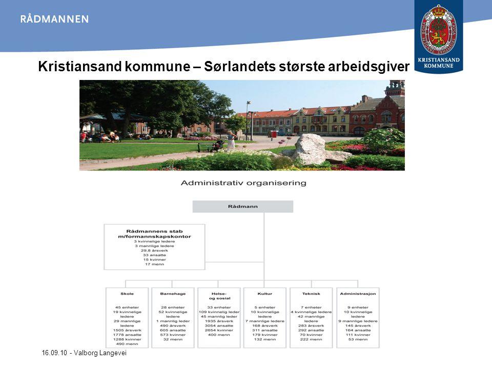 Kristiansand kommune – Sørlandets største arbeidsgiver