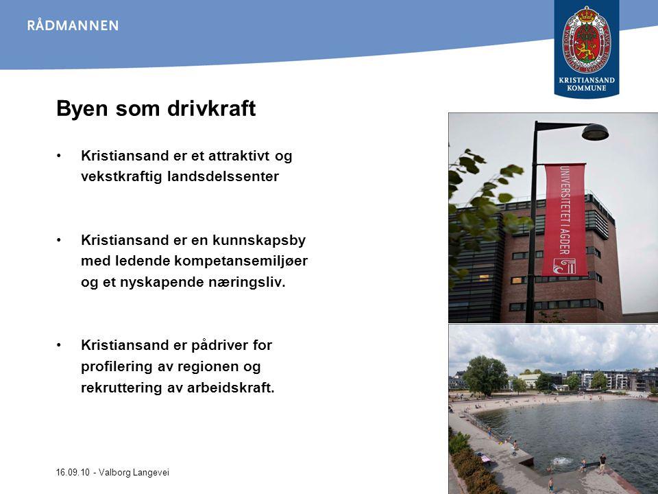 Byen som drivkraft Kristiansand er et attraktivt og