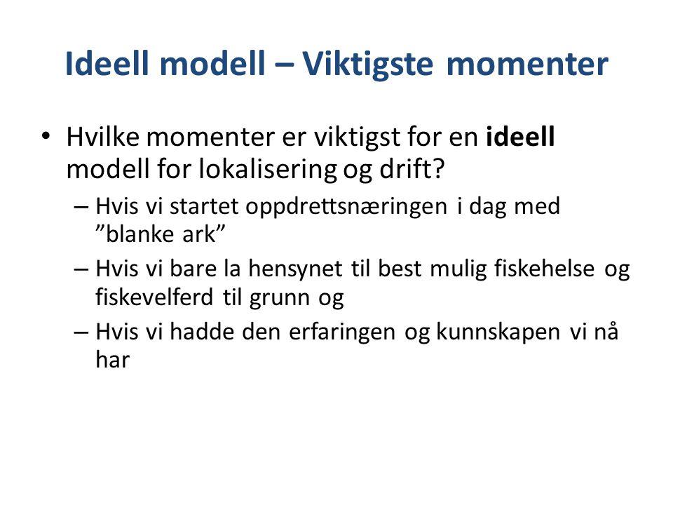 Ideell modell – Viktigste momenter
