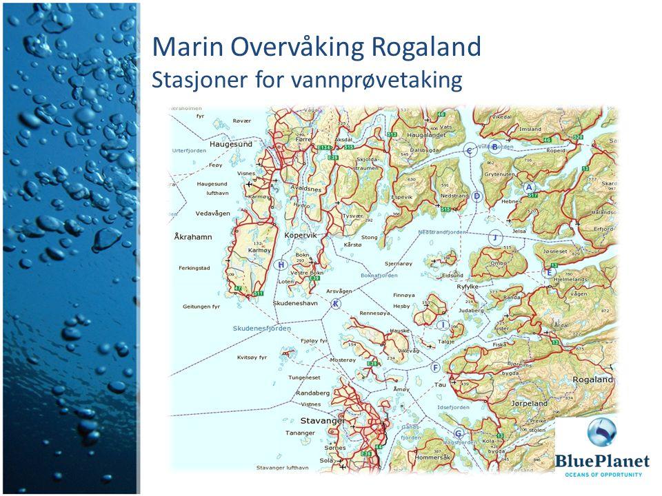 Marin Overvåking Rogaland Stasjoner for vannprøvetaking
