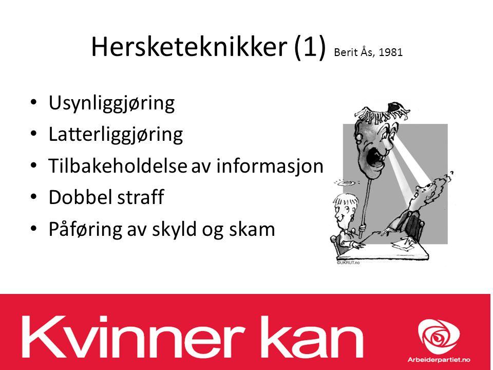 Hersketeknikker (1) Berit Ås, 1981
