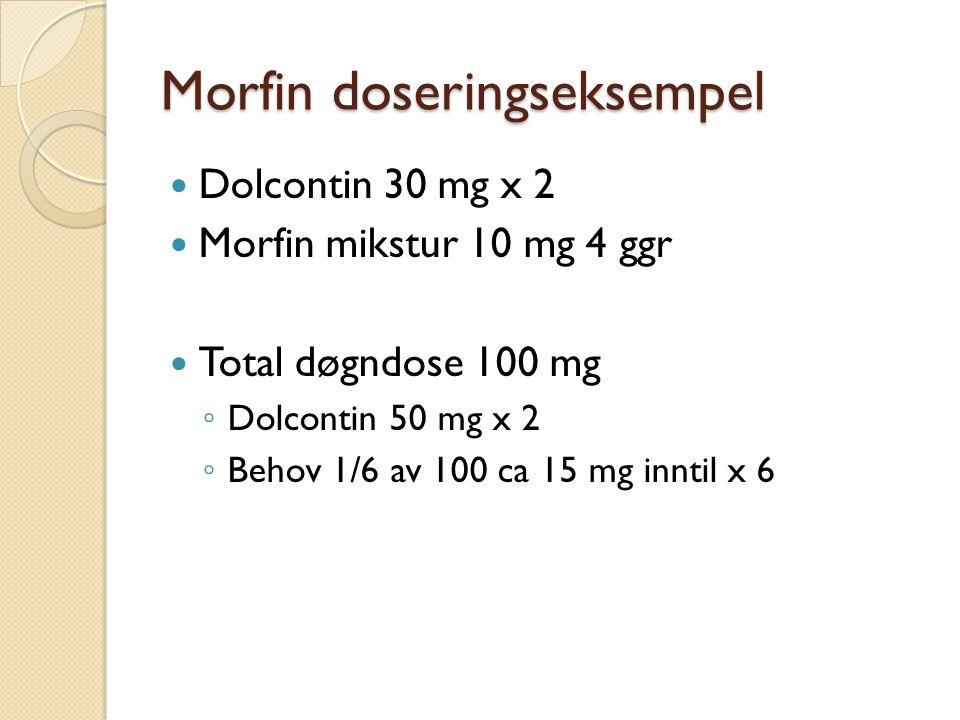 Morfin doseringseksempel