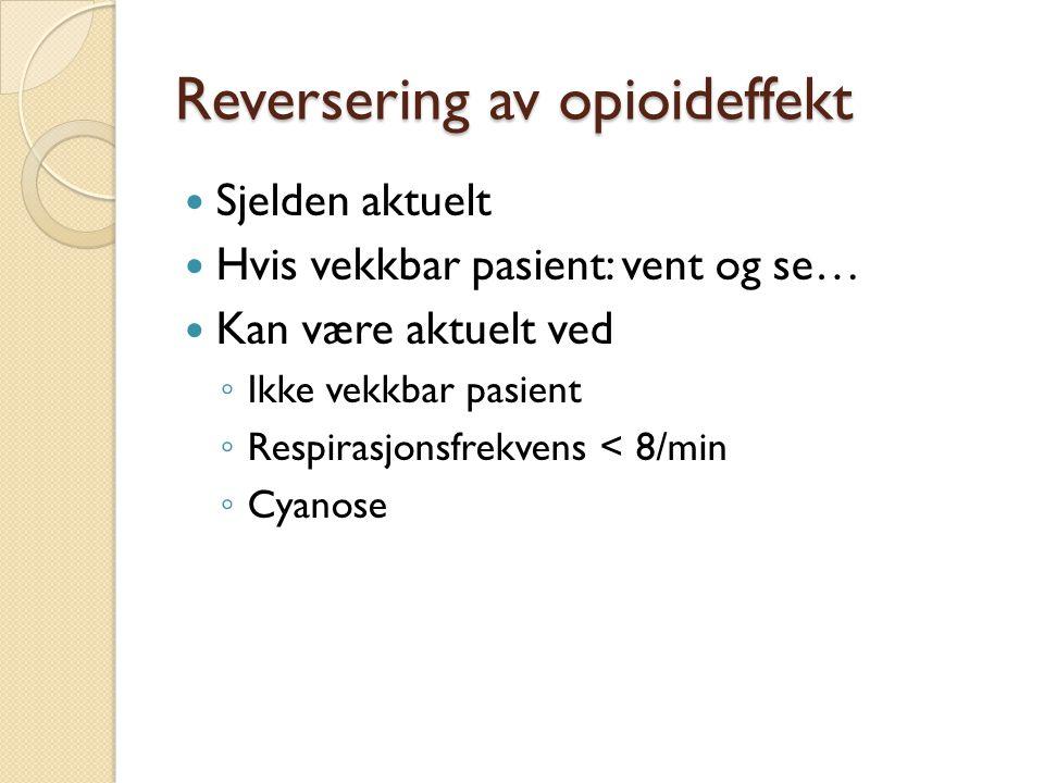 Reversering av opioideffekt