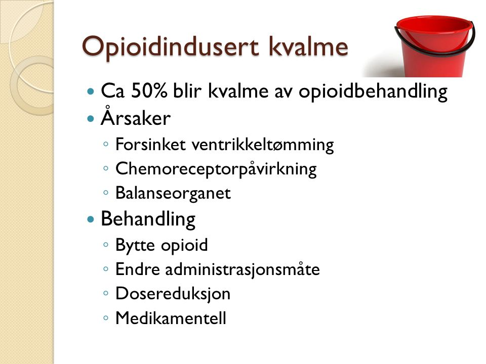Opioidindusert kvalme