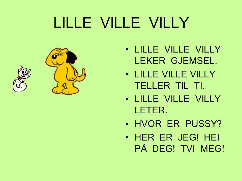 LILLE VILLE VILLY LILLE VILLE VILLY LEKER GJEMSEL.