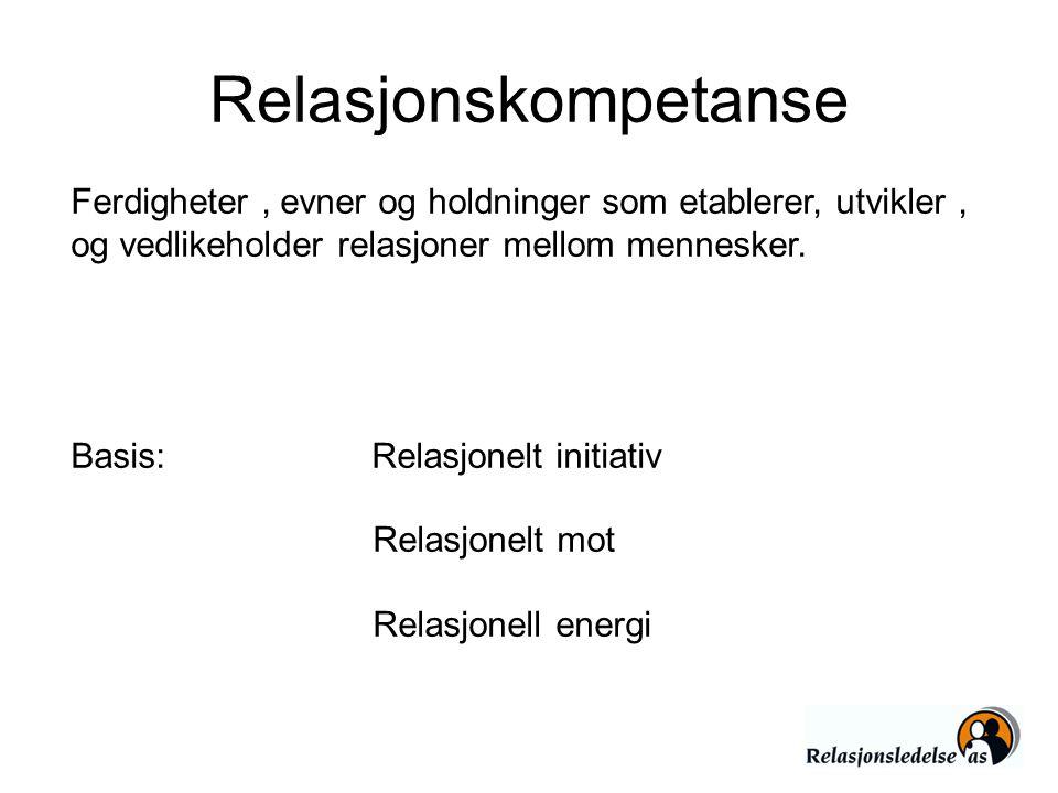 Relasjonskompetanse Ferdigheter , evner og holdninger som etablerer, utvikler , og vedlikeholder relasjoner mellom mennesker.