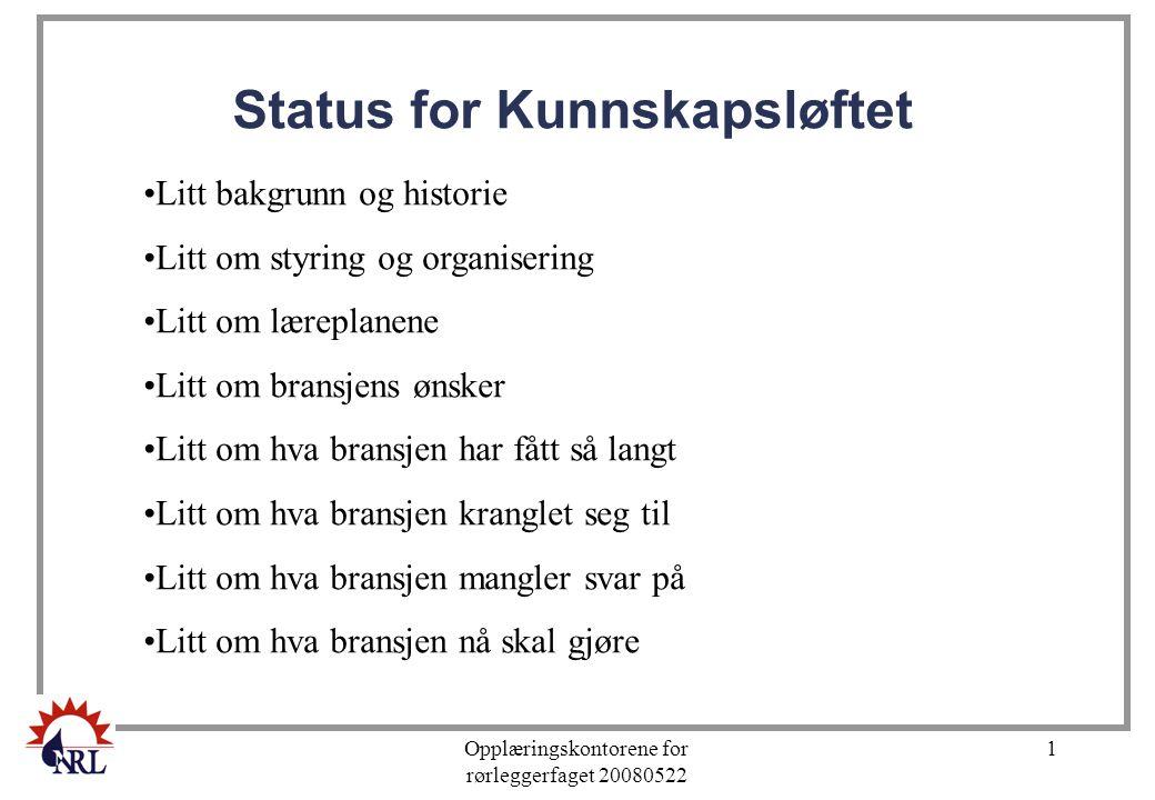 Status for Kunnskapsløftet