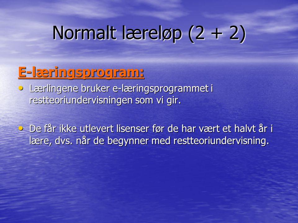 Normalt læreløp (2 + 2) E-læringsprogram: