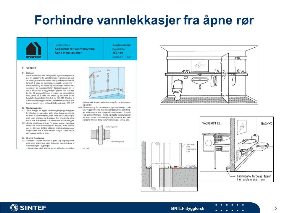 Forhindre vannlekkasjer fra åpne rør