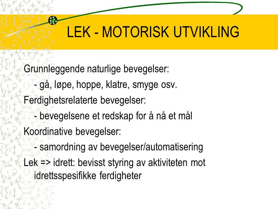 LEK - MOTORISK UTVIKLING