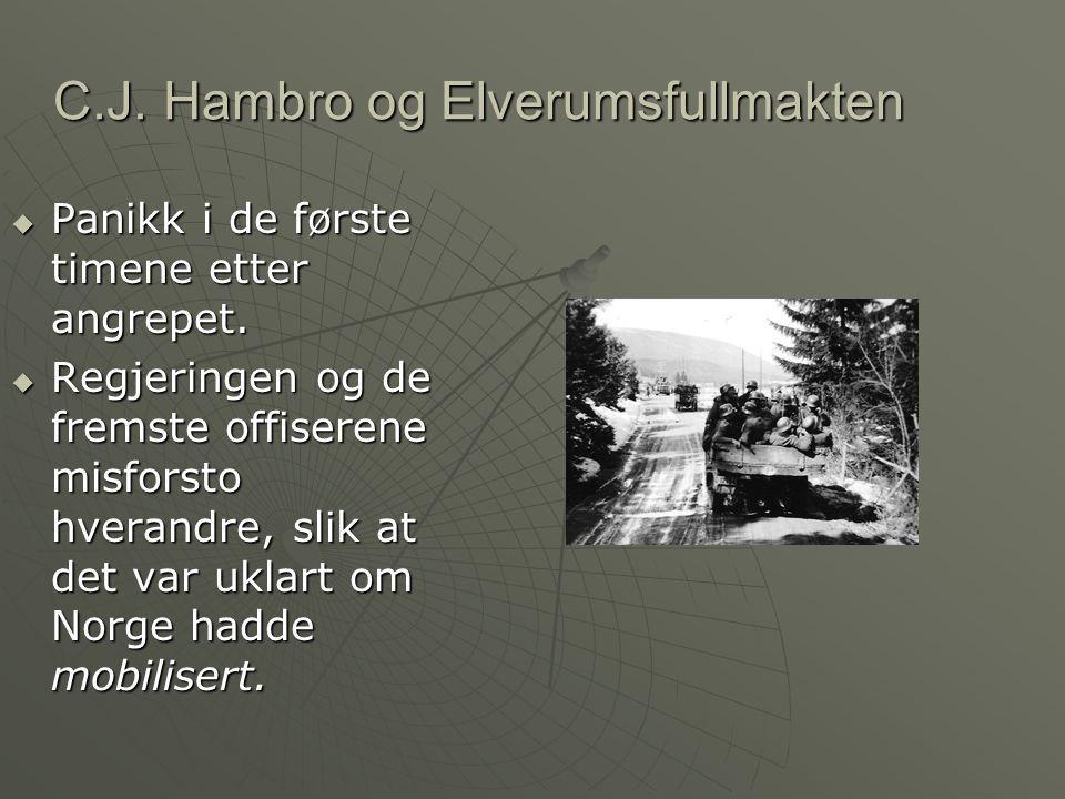 C.J. Hambro og Elverumsfullmakten