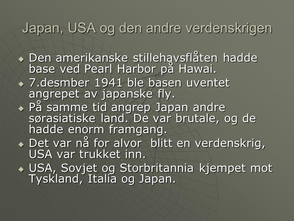 Japan, USA og den andre verdenskrigen