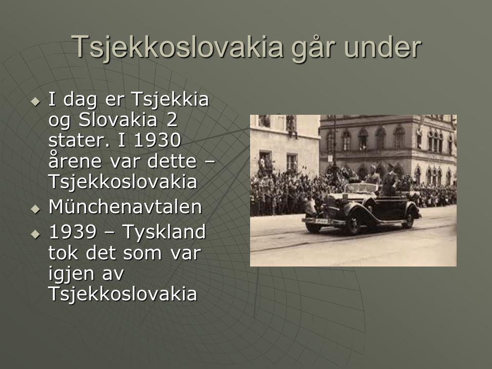 Tsjekkoslovakia går under