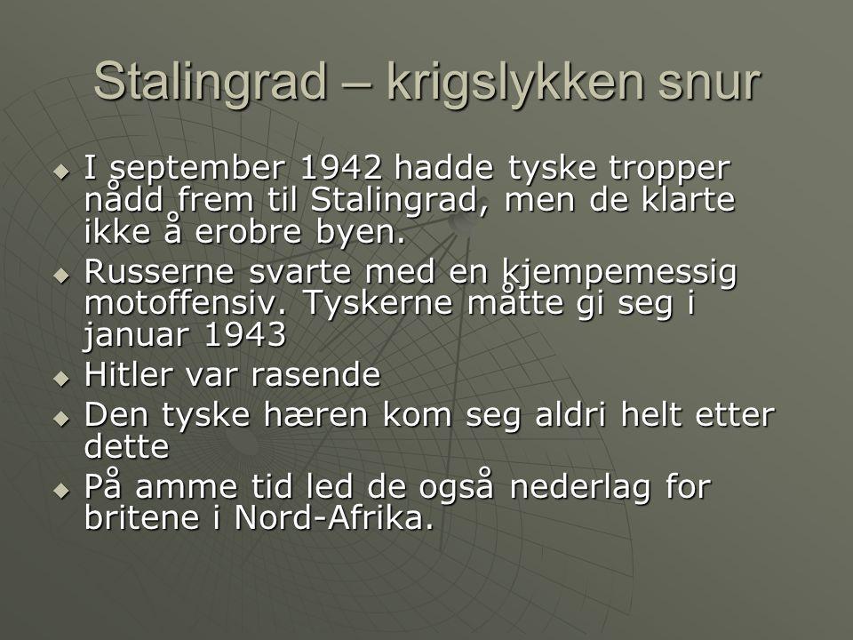 Stalingrad – krigslykken snur