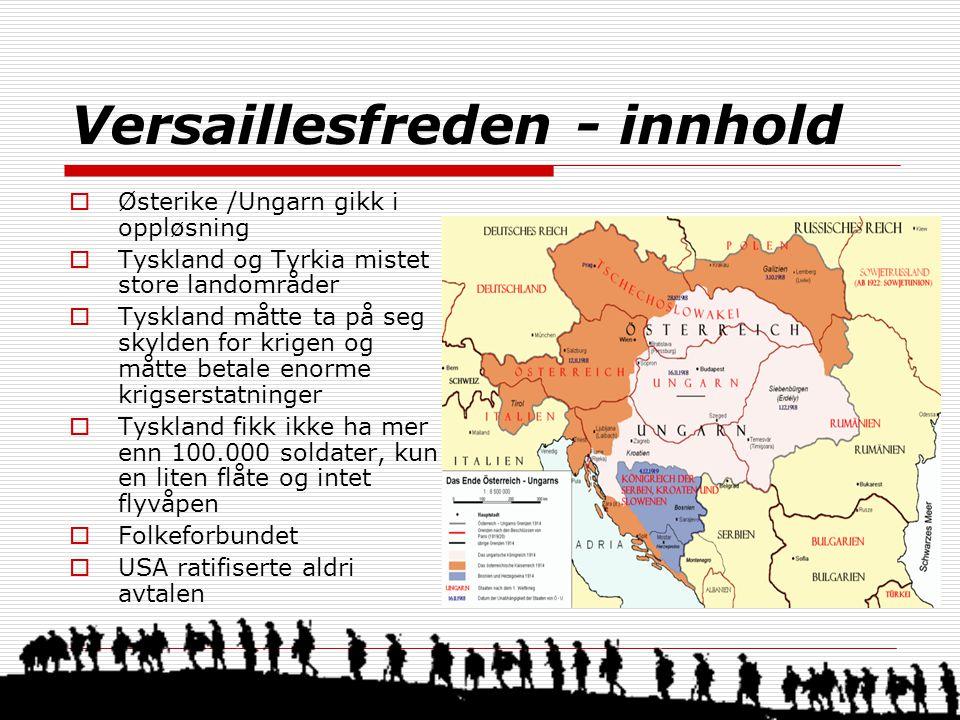 Versaillesfreden - innhold
