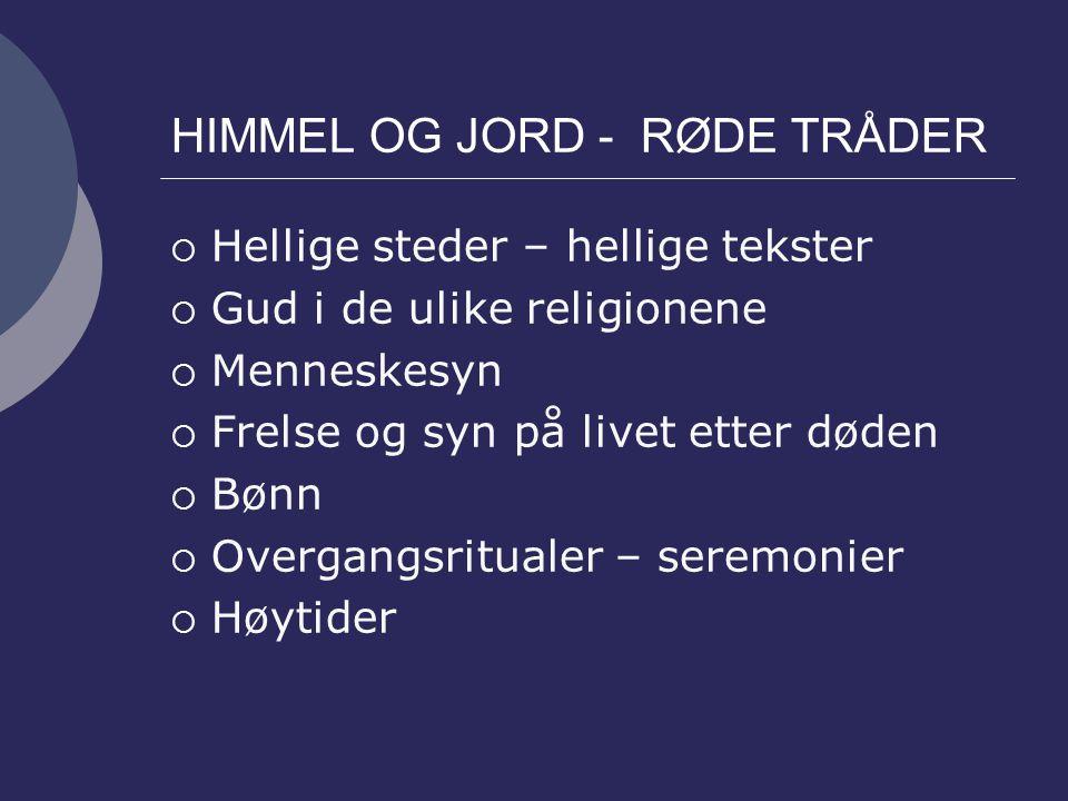 HIMMEL OG JORD - RØDE TRÅDER