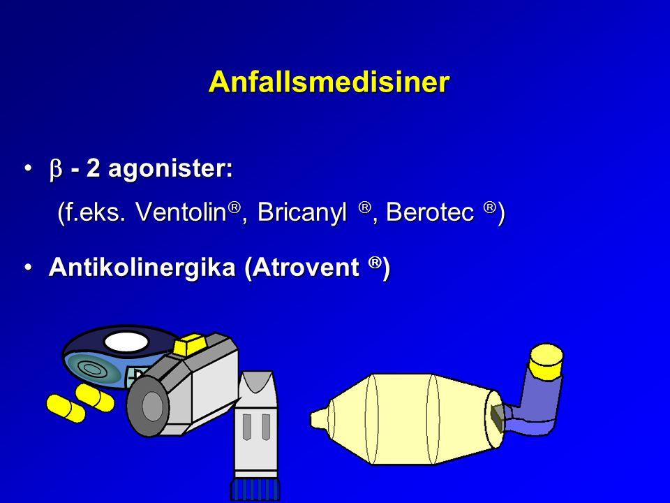 Anfallsmedisiner  - 2 agonister: