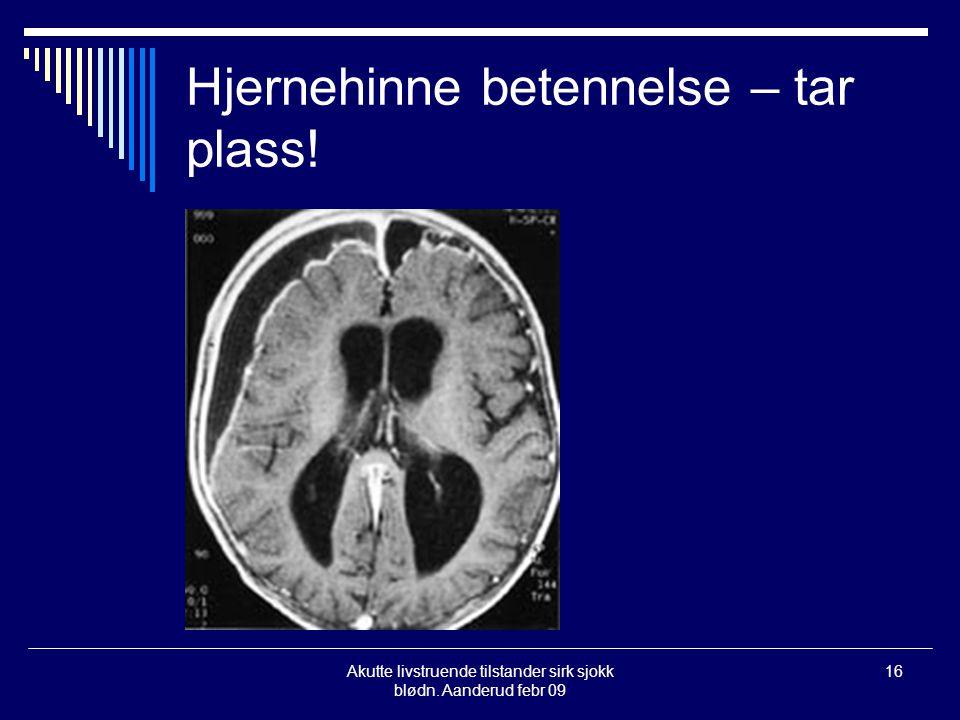 Hjernehinne betennelse – tar plass!