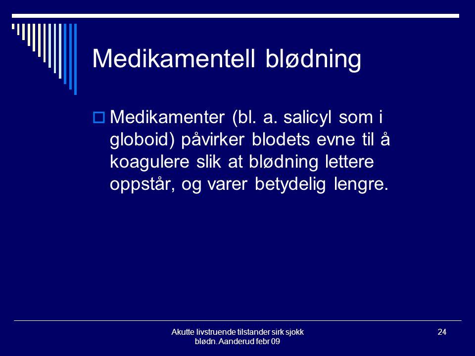 Medikamentell blødning