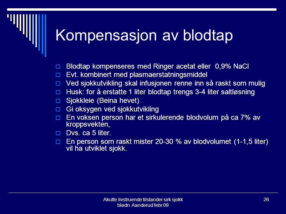 Kompensasjon av blodtap